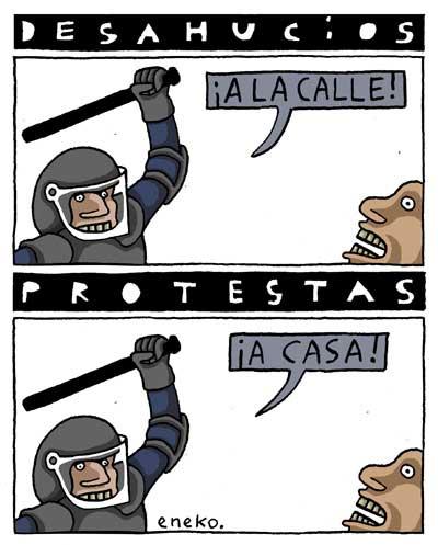 LA CUCARACHA, ELS DESNONAMENTS I EL PP